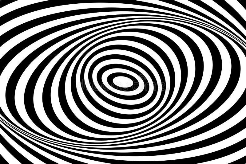 Иллюзия движения свирли косоугольников картины конструкции искусства вектор геометрических op безшовный Овальные линии картина и  иллюстрация вектора