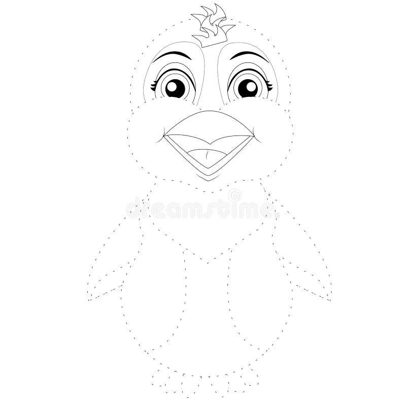 Иллюстрация вектора соединить пингвина точек иллюстрация вектора