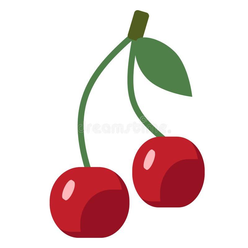 Иллюстрация вишни плоская простая бесплатная иллюстрация
