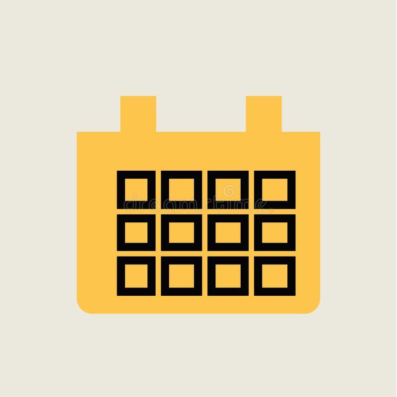 Иллюстрация значка календаря плоская иллюстрация штока