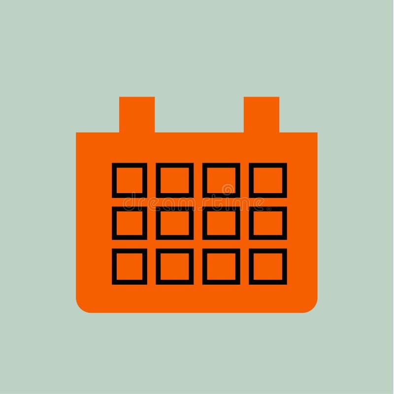 Иллюстрация значка календаря иллюстрация штока