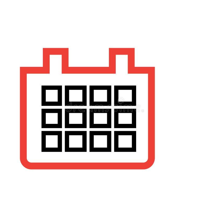 Иллюстрация значка календаря бесплатная иллюстрация