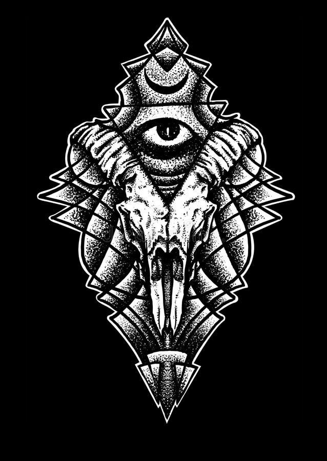 Иллюстрация искусства дизайна глаза энергии иллюстрация вектора