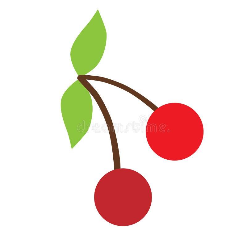 Иллюстрация искусства цвета вишни плоская бесплатная иллюстрация