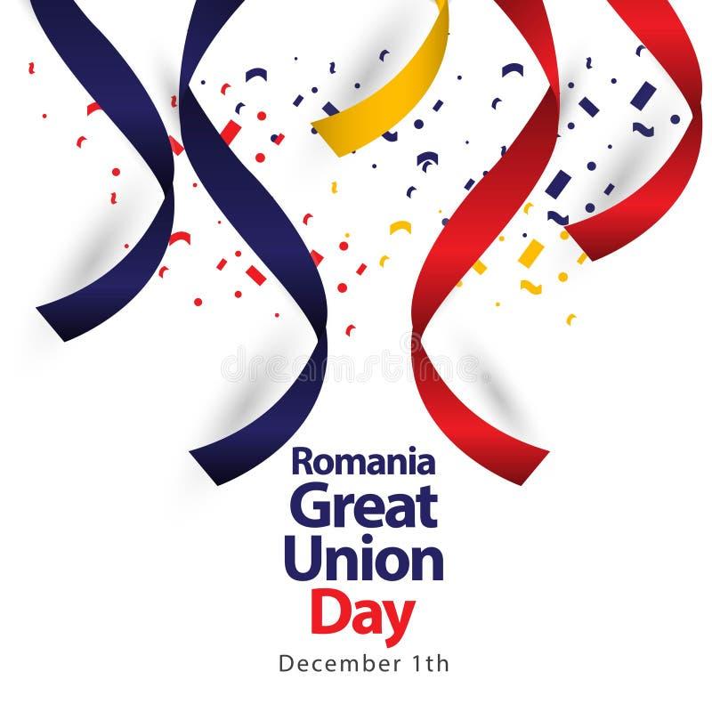 Иллюстрация дизайна шаблона вектора дня соединения Румынии большая иллюстрация штока