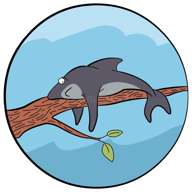 Иллюстрация уставшей акулы иллюстрация штока