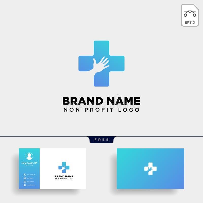 иллюстрация шаблона логотипа здравоохранения перекрестной руки медицинская стоковое фото