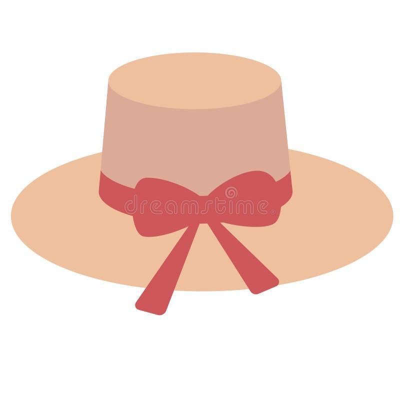 Иллюстрация шляпы женщины плоская иллюстрация штока