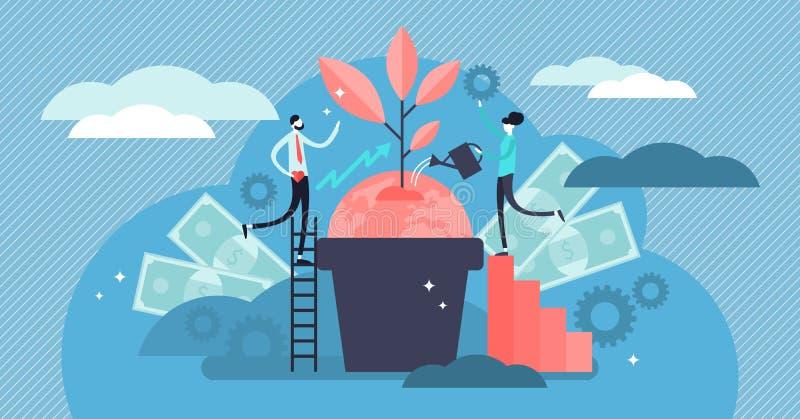 Иллюстрация социальной ответственности дела Плоская крошечная концепция человека этик иллюстрация штока