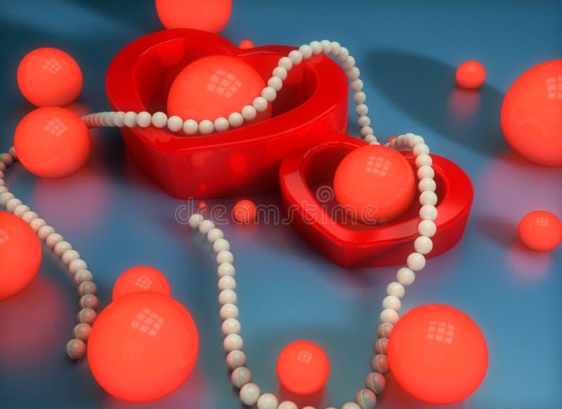 иллюстрация 3D для любовников Очарование и красота иллюстрация вектора