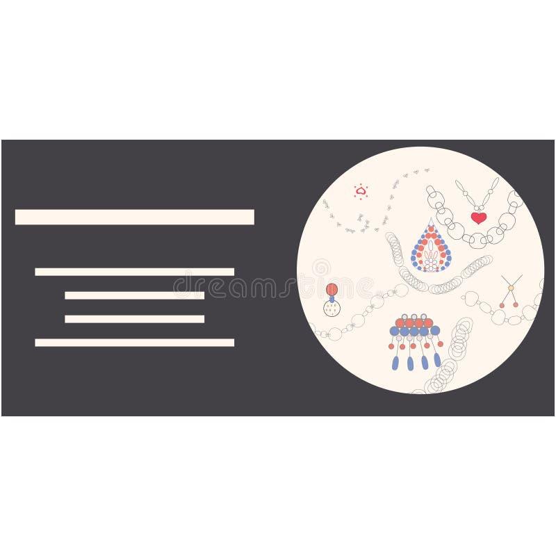 Иллюстрация оформления украшений с текстом иллюстрация вектора