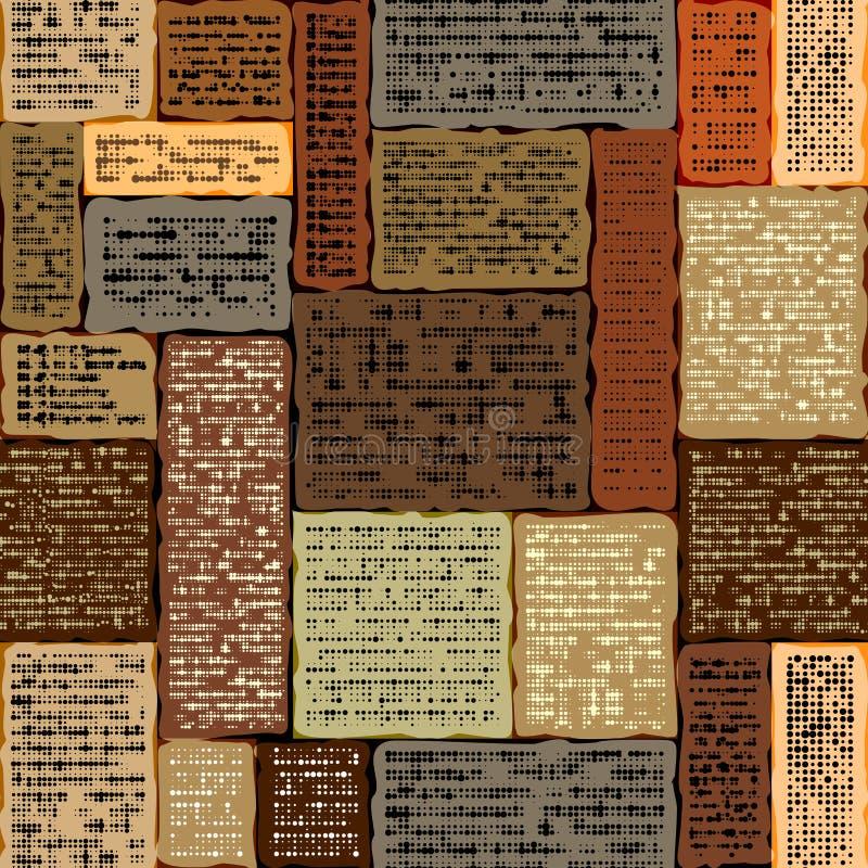 Имитация абстрактной винтажной газеты нечитабельный текст бесплатная иллюстрация