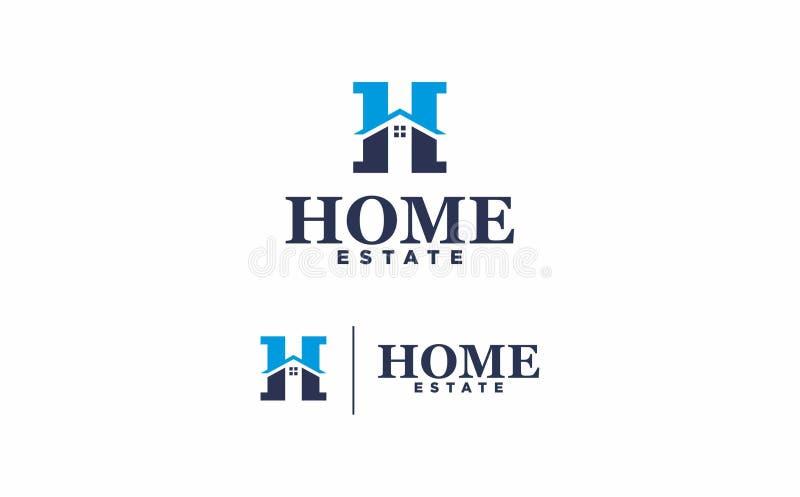 Имущество дома логотипа на белой предпосылке стоковое фото rf
