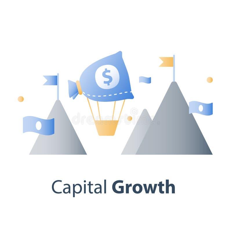Инвестиционный фонд, финансовая концепция, новая идея дела, начинает вверх деньги, управление капиталом иллюстрация штока