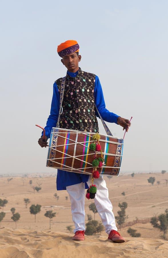 Индийский барабанщик стоковое фото rf