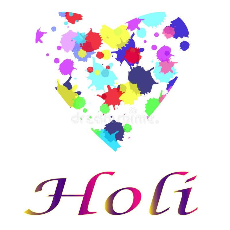Индийский праздник взбрызнутый с яркими пунктами цветов иллюстрация штока