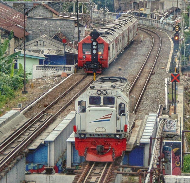Индонезийский поезд стоковое фото rf