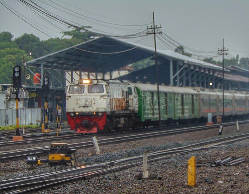 Индонезийский поезд стоковая фотография rf
