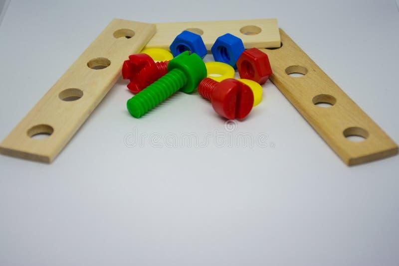 Инструменты игрушек детей стоковое изображение rf