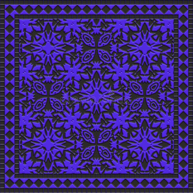 Интерьер абстрактной ванной комнаты зодчества мозаики затейливый иллюстрация вектора