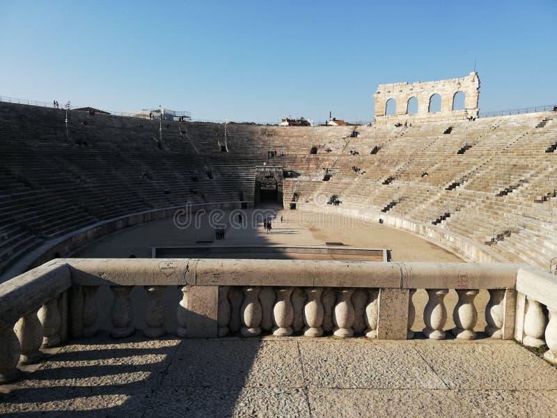 Интерьер арены Вероны, Италия стоковые изображения