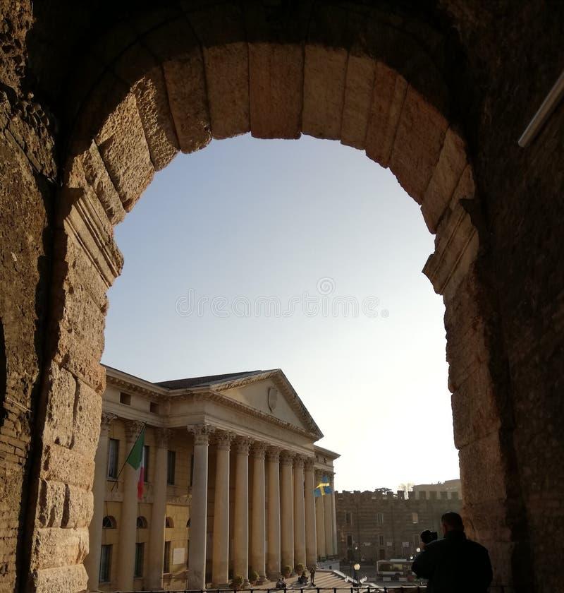 Интерьер арены Вероны, Италия стоковое изображение rf