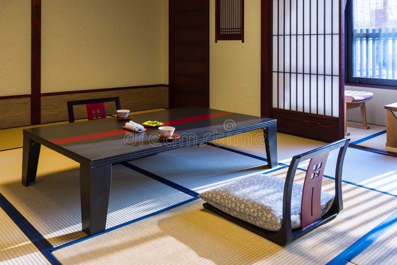 Интерьер комнаты Ryokan в Takayama, Японии стоковые фотографии rf