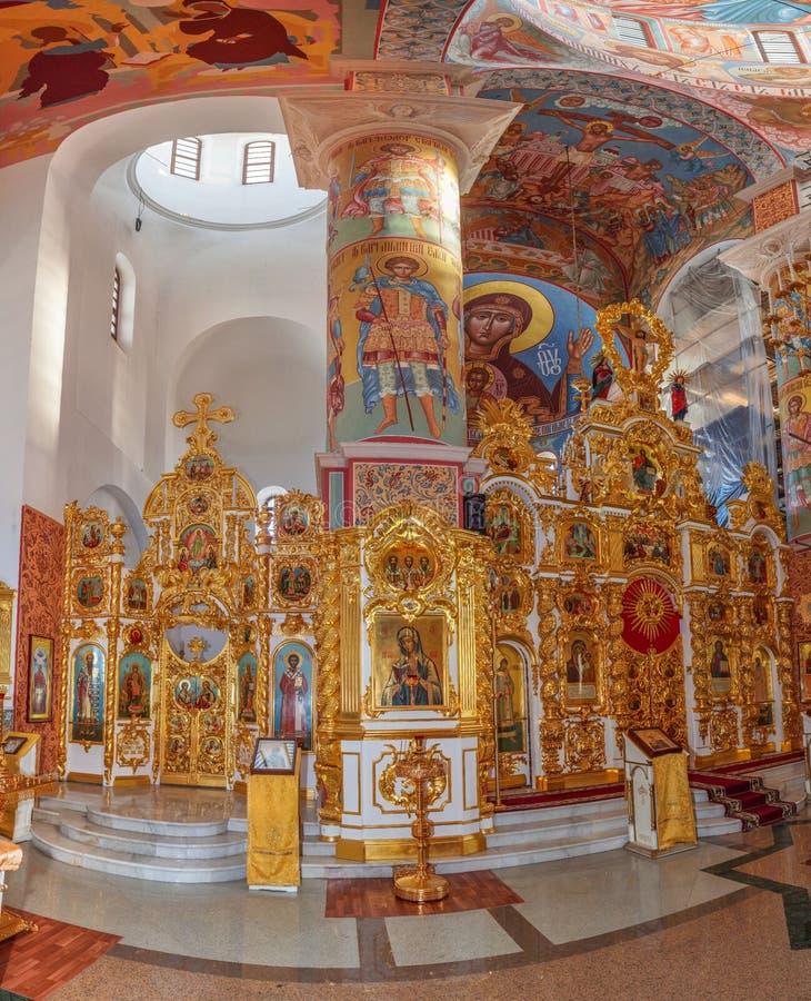 Интерьер православной церков церков в центральной России иллюстрация вектора