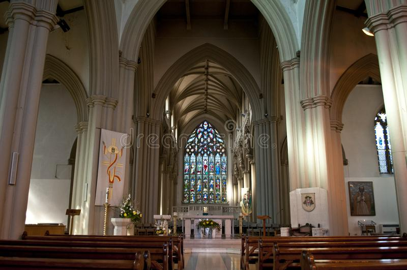 Интерьер собора Salford, большего Манчестера, Великобритании стоковые фотографии rf
