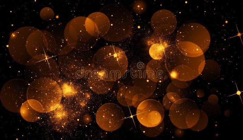 Идеальное абстрактное bokeh золота для предпосылки Яркие блески освещают текстуру иллюстрация вектора