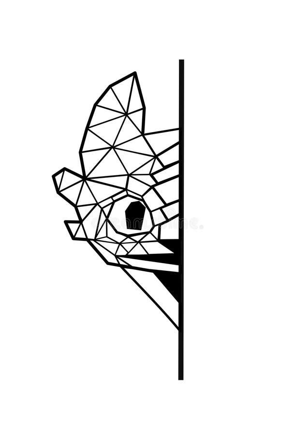 Искусство вектора poligonal неистовства ночи Как натренировать вашего дракона Дизайн татуировки дракона бесплатная иллюстрация
