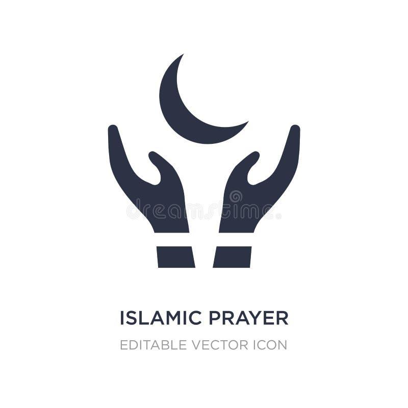 исламский значок молитве на белой предпосылке Простая иллюстрация элемента от концепции культур иллюстрация вектора