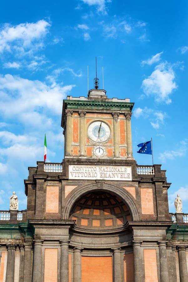 Историческая архитектура в Неаполь, Италии стоковые фотографии rf