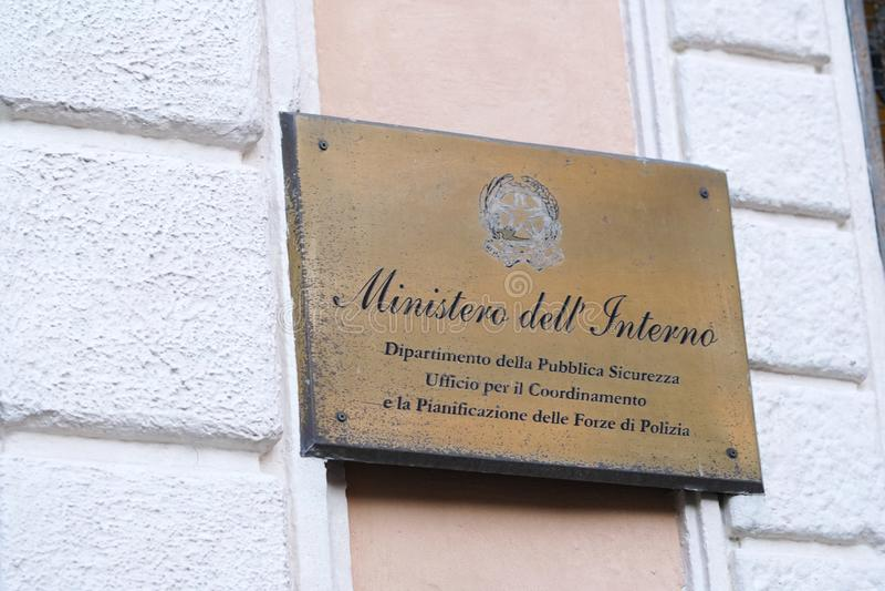 Итальянский отдел Министерства Внутренних Дел стоковая фотография rf