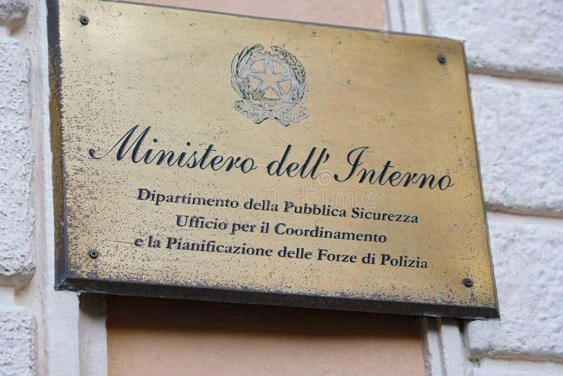 Итальянский отдел Министерства Внутренних Дел стоковые изображения rf