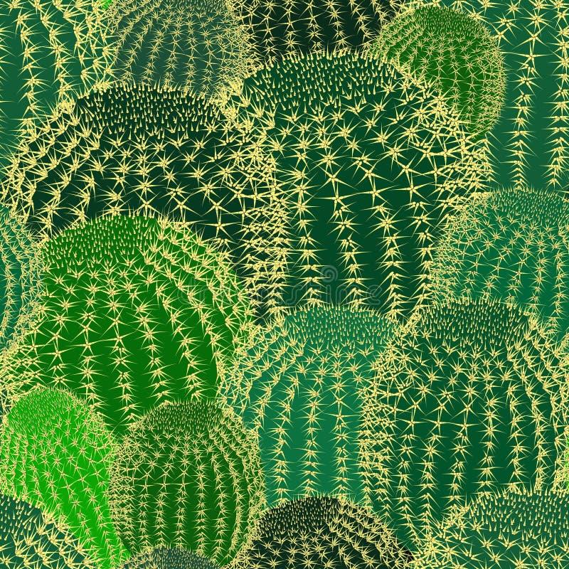 Кактус засаживает предпосылку картины текстуры безшовную иллюстрация штока