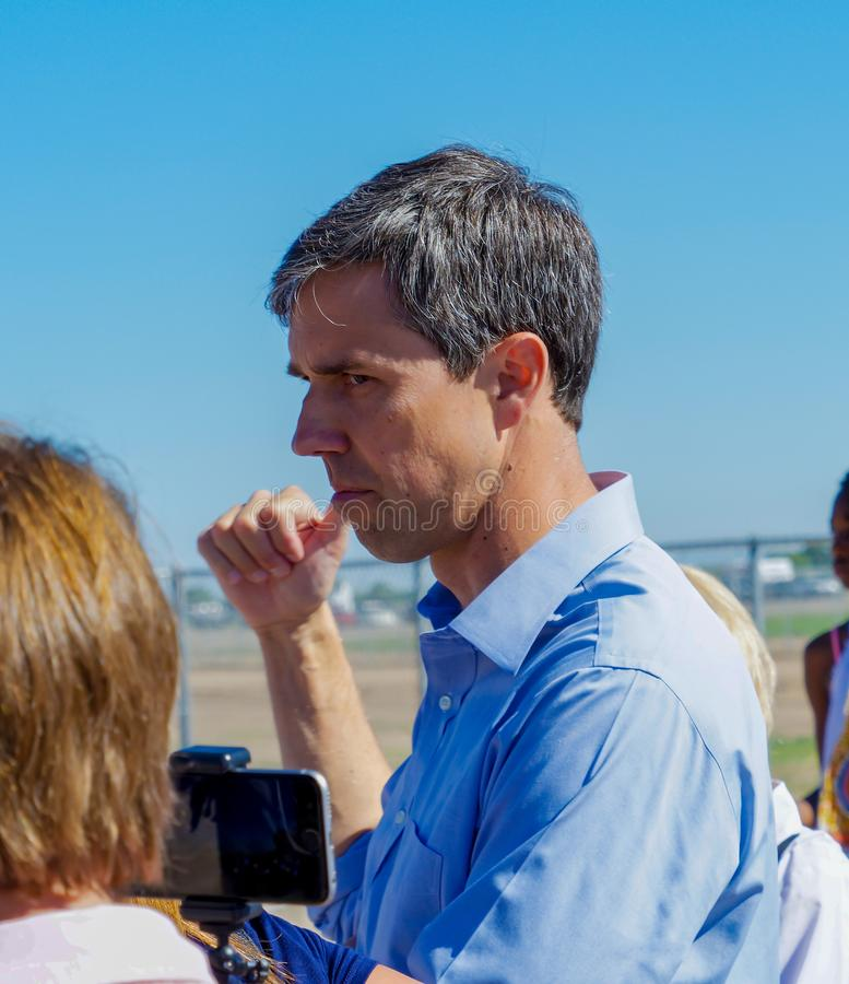 Кандидат в президенты Beto O' Rourke стоковое изображение rf