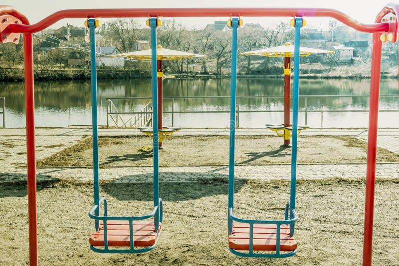 Качание на озере стоковое фото rf