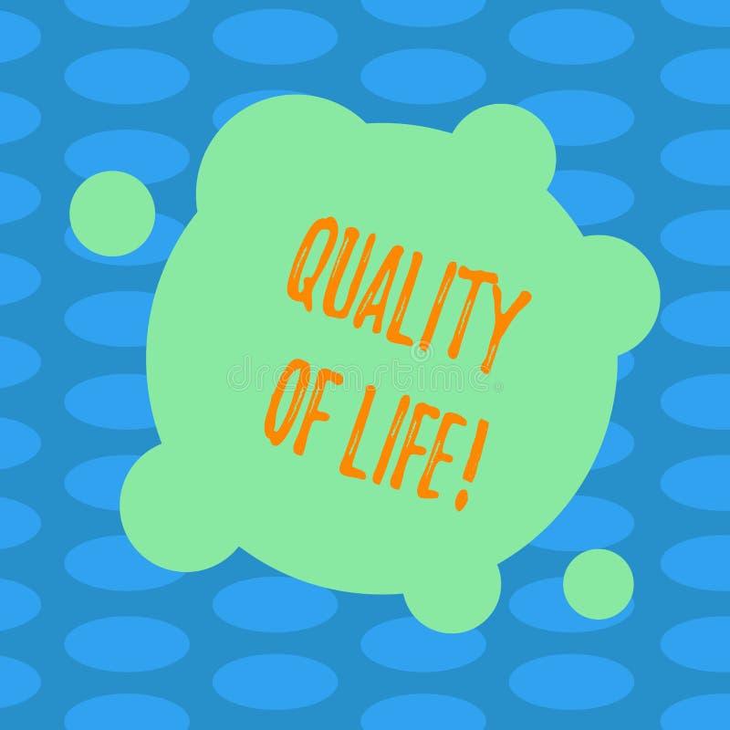 Качество жизни текста сочинительства слова Концепция дела для благополучия моментов хорошего счастья образа жизни приятного прикр иллюстрация штока