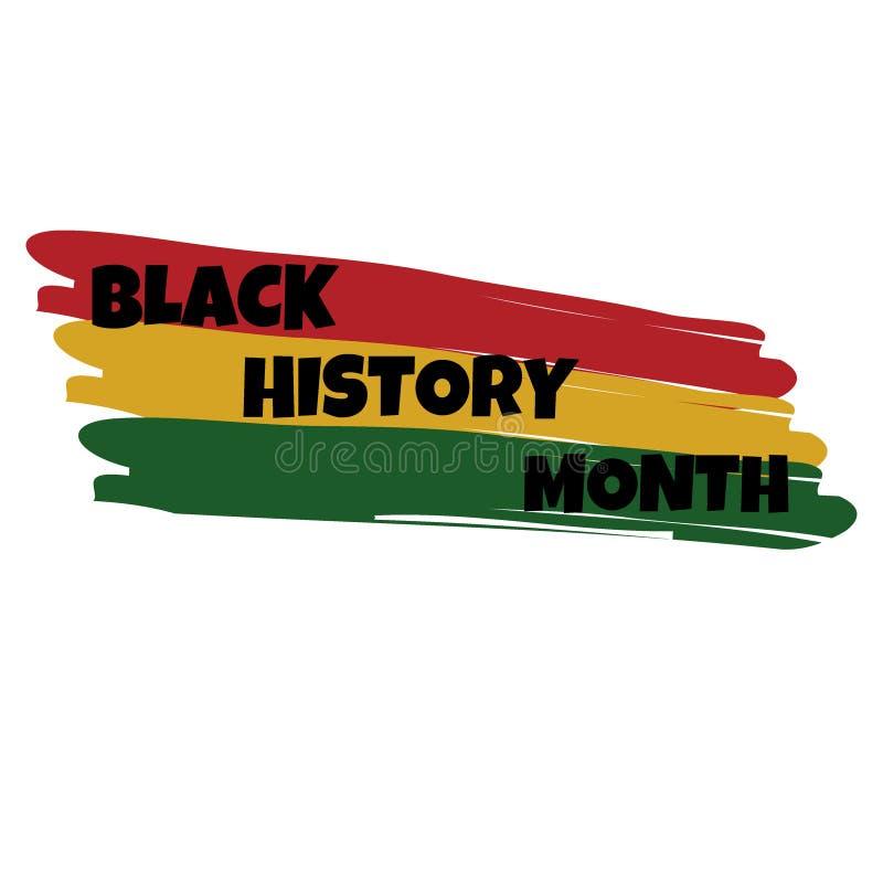 Карта литерности руки черного †месяца истории «, знамя иллюстрация штока