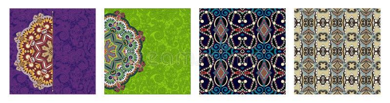 Картина безшовной геометрии винтажная, предпосылка этнического стиля орнаментальная иллюстрация вектора