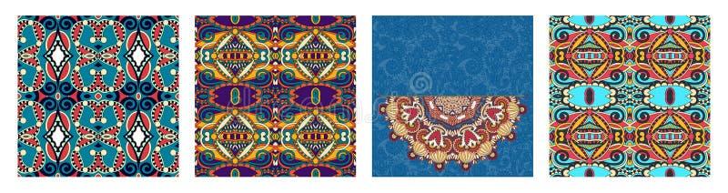 Картина безшовной геометрии винтажная, предпосылка этнического стиля орнаментальная иллюстрация штока