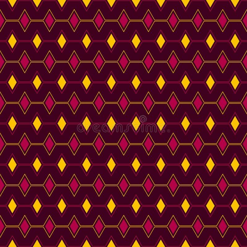 Картина геометрии вектора формы треугольника безшовная для открыток, обоев, предпосылки сети, печати и ткани бесплатная иллюстрация