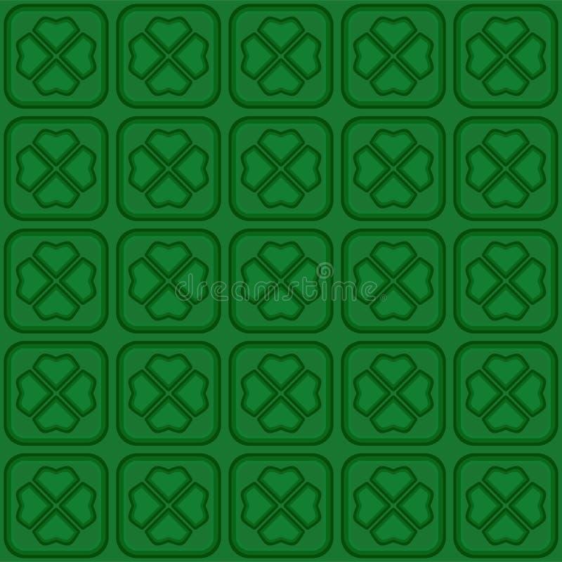 Картина зеленого вектора безшовная с клевером лист бесплатная иллюстрация