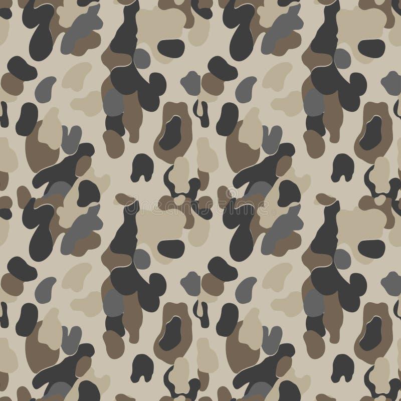 картина камуфлирования безшовно воинская предпосылка Камуфлирование солдата Абстрактная безшовная картина для армии, военно-морск иллюстрация вектора