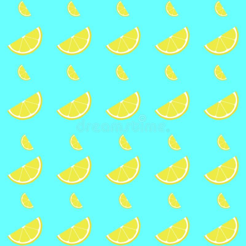 Картина лимона безшовная с куском стоковое фото rf