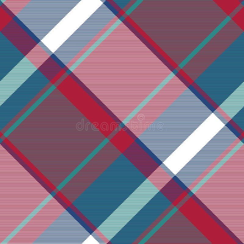 Картина несимметричной абстрактной шотландки проверки безшовная бесплатная иллюстрация