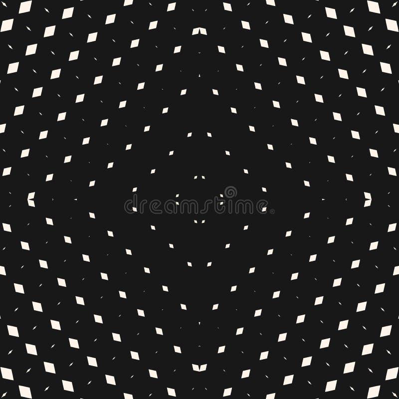 Картина радиального полутонового изображения вектора безшовная белизна предпосылки черная геометрическая иллюстрация вектора