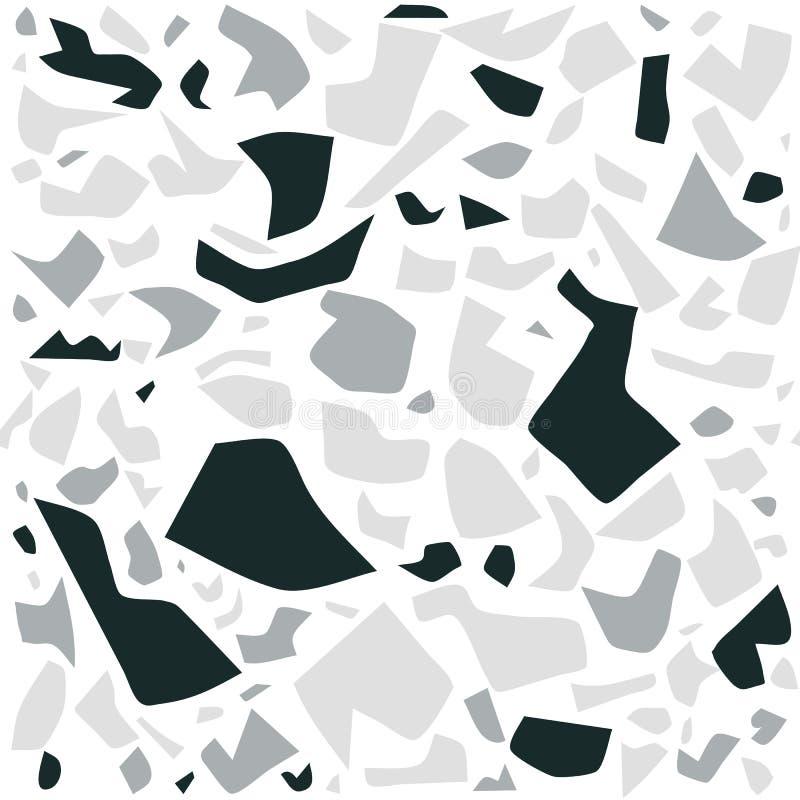 Картина terrazzo вектора безшовная, предпосылка настенной росписи с хаотическими пятнами иллюстрация штока