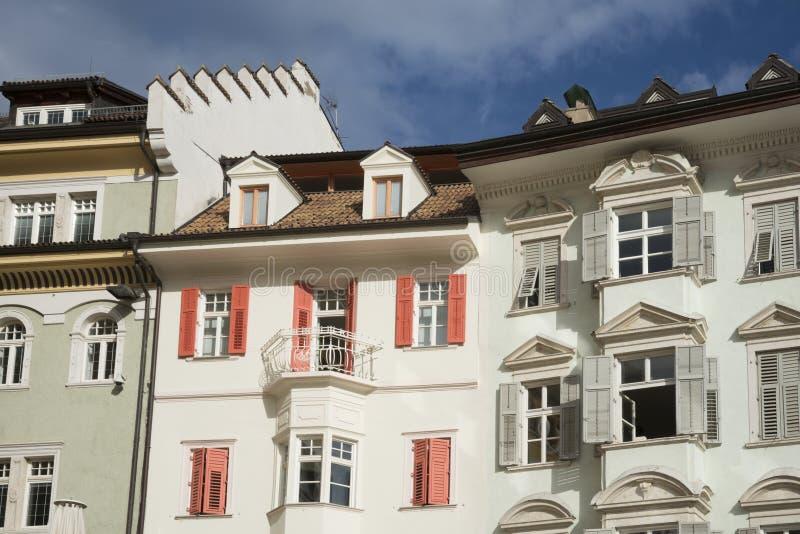 Квартиры в Больцано, Италии стоковое изображение rf